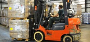 Warehouse storage, forklift safety