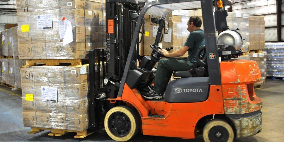Warehouse storage, forklift safety