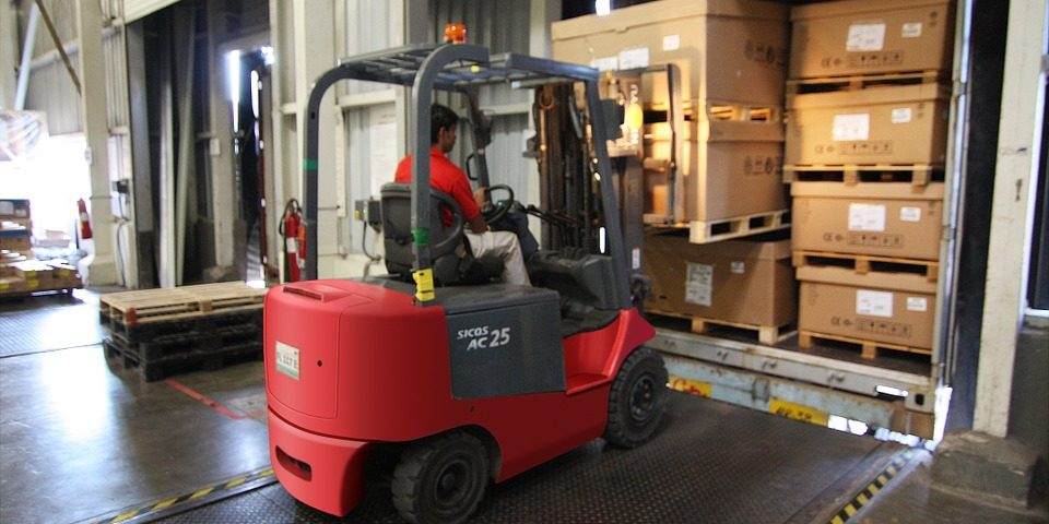 Warehouse Storage fork lift