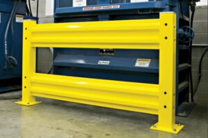 Cogan Warehouse Guardrails in Pallet Racking system